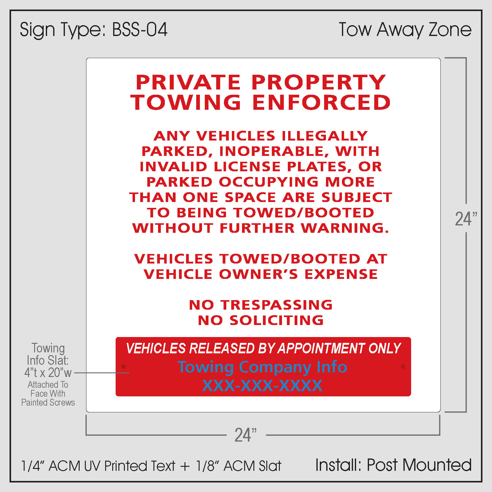 Private Property Towing-NC (BSS-04)